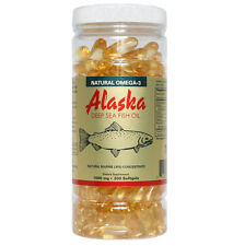 Alaska Deep Sea Omega-3 Fish Oil 200 Softgels EPA DHA FRESH Made In USA