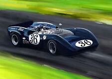 "Dan Gurney    Lola T70  A2   24""x18""   Print"
