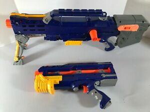 NERF Longshot CS-6 Blue & Pistol extension