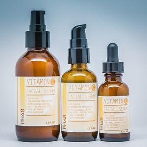VITAMIN C 30% Anti-Aging Serum + E & FERULIC ACID in 100% HYALURONIC ACID Base