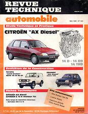 RTA revue technique automobile N° 503 CITROEN AX 14 d rd trd diesel