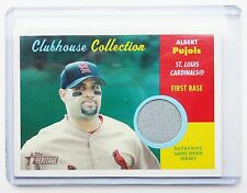 Albert Pujois 2006 Topps Heritage Clubhouse Collection Game Worn Jersey Card -AP