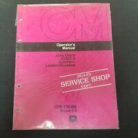 John Deere JD302-A Loader - Loader/Backhoe Operator's Manual OM-T56368 Issue C6