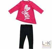 Completo Maxi maglia  con Leggins caldo cotone  Fucsia/Nero Neonata  Sarabanda T
