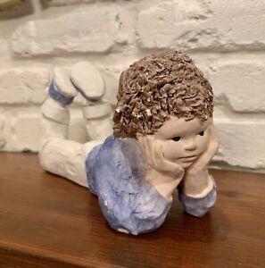Austin Productions Daze Mortensen Clay Sculpture Daydreaming Boy 1986