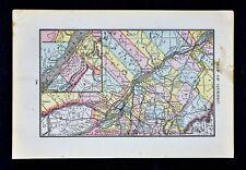 1884 Rand McNally Map - Quebec - Montreal Ottawa Sorel St. Lawrence River Canada