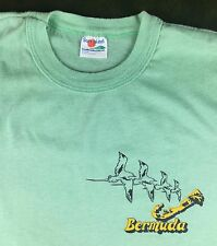 Vintage Mens M 80s Bermuda Caribbean Islands Travel Vacation Souvenir T-Shirt