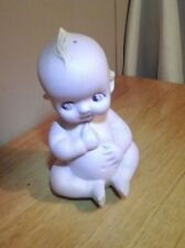 Baby Talcum Powder Shaker Vintage & Collectible Ceramic Kewpie Style Baby Doll