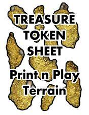 Gold & Treasure Token Sheet, DIGITAL DOWNLOAD D&D RPG Dragons Dnd Pathfinder