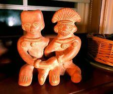 Vintage Aztec Mayan Inca South America Tribal Art Clay Terracotta Figurine
