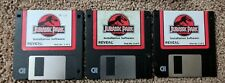 RARE Jurassic Park PC Game 3.5 Inch Floppy Disk Disc Reveal 1993