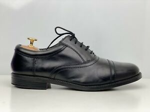 Marks And Spencer Mens Black Leather Extra Wide Fit Derby Shoe UK Size 7