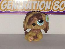 Littlest PetShop Bobtail Marron Avec Fleur Bleue N°1077 DOG