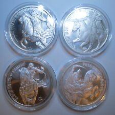 FULL SET-Four Horsemen Of The Apocalypse 1oz .999 Silver Coins IN CAPSULES
