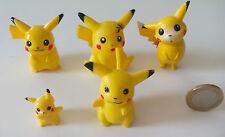 SET OF 5 POKEMON PIKACHU figures. Lote de 5 figuras. Nintendo, Bandai, Tomy