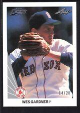 WES GARDNER 2012 LEAF MEMORIES 1990 BUY BACK SILVER #407 RED SOX #14/20