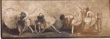 "Hendrickson Orig Photo Sepia LITTLE BALLERINAS GETTING READY Ballet 13 x 4.25"""