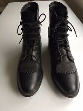 ARIAT HERITAGE 33501 Lacer Kiltie Roper Paddock Boots Blk leather womens 8.5B