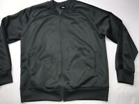 Mitre Full Zip Windbreaker Mens Jacket Sz M Track Soccer Warmup Gray Black