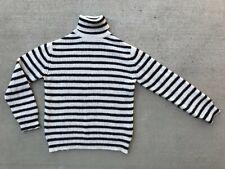 Iro white and dark strip turtleneck sweater, women's M