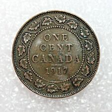KM # 21-ONE CENT-George V-Canada 1917 (F)