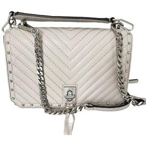 Rebecca Minkoff - Chevron Quilted Leather Crossbody Bag - Detachable Chain Strap