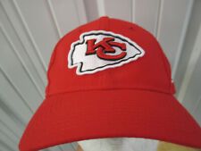 NEW ERA NFL KANSAS CITY CHIEFS SEWN RED MESH STRAPBACK CAP HAT NEW W/O TAGS