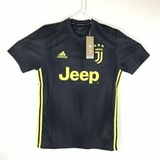 adidas JUVENTUS Jeep Parley Jersey Dp0455 Black Yellow Embroidery Mens Small