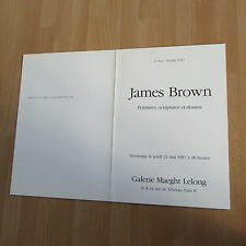 CARTON D'INVITATION EXPOSITION JAMES BROWN 1987 PEINTURES SCULPTURES