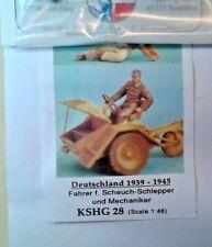 HECKER GOROS KSHG 28 DEUTSHLAND1939-45 FAHER F. SOLDATINI 1/48 WHITE METAL