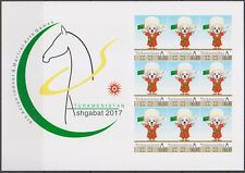 Turkmenistan 2017 Emblem of Asian Games Dog Extremely Rare Imperf sheet!