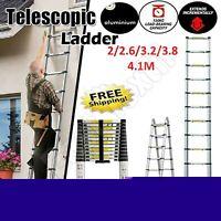 2M To 4.1M Aluminum Telescopic Folding Extendable Extension Ladder Steps Climb.