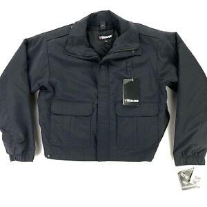 NEW Blauer Men's 9910Z GORE-TEX Dark Navy Police Jacket • LARGE TALL LT