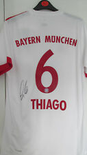 "Firmato ""THIAGO ALCANTARA-Bayern Monaco"" 2017/18 Away Shirt (PROOF & COA)"