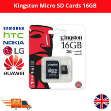 KINGSTON MICRO SD 16GB SDHC MEMORY CARD WITH ADAPTER FOR SAMSUNG HTC NOKIA HUAWE