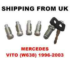 IGNITION SWITCH + 4 DOOR LOCK BARREL SET FRONT LEFT RIGHT REAR MERCEDES VITO