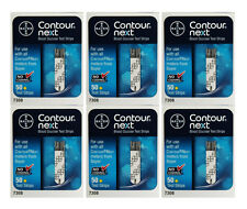 Bayer Contour Next Blood Glucose 300 Test Strips (6 Boxes of 50) Exp 1-Year+