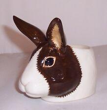 QUAIL Brown and White Faced Dutch Rabbit Egg Cup