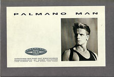 PALMANO MAN 1986 SET OF 6 FINE ART POSTCARDS OF GAY FASHION OF THE DAY