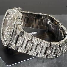Jumbo Fully Iced Out Bust Down Nautical Style Watch