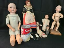 Lot of Vintage to Now Bisque & Celluloid Plastic Dolls for Repair or Altered Art
