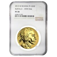 2013 W 1 oz $50 Reverse Proof Gold American Buffalo NGC PF 70