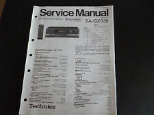 Original Service Manual  Technics Receiver SA-GX530