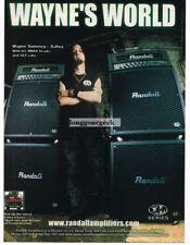 2003 RANDALL VMAX Amp XLT Cabinets WAYNE SWINNEY of  Saliva Vtg Print Ad