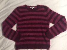 DKNY girls berry striped sweater sz XL (12/14) EUC!