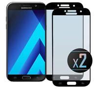 Samsung A5 2017 (A520) - 2 Films Protection écran en verre trempé (Noir)