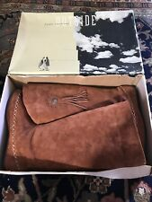 Womans HUSH PUPPIES Brown Clay Satin Suede Brave Western 58341 10M