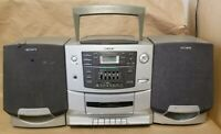 Sony CFD-Z500 AM/FM CD/Cassette Player Boombox Radio - Shelf - Rare - FOR PARTS