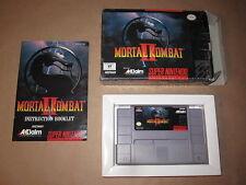 Mortal Kombat II (Super Nintendo SNES) Complete in Box CIB Very Nice!