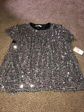 NWT Beautiful Soul  shirt size 18-20 Bling Sequin Silver Black. Party Wedding